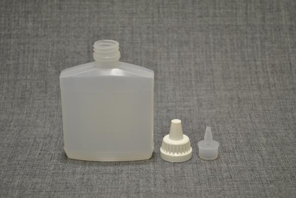 plastikoviy-flakon-100ml-ploskiy-s-kapelnitsey