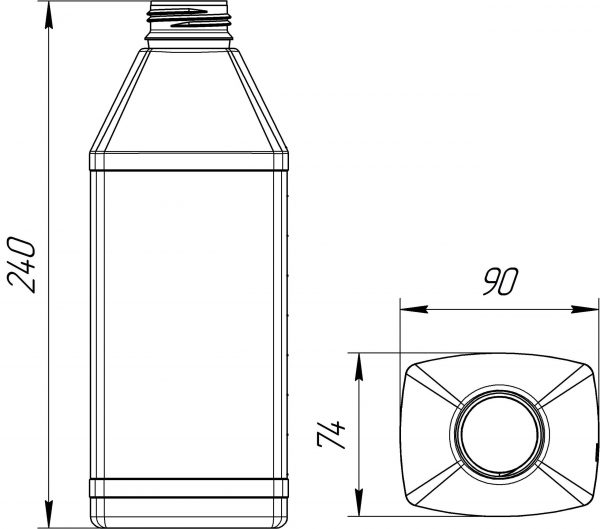 kanistra-plastikovaya-1-litr-chertezh