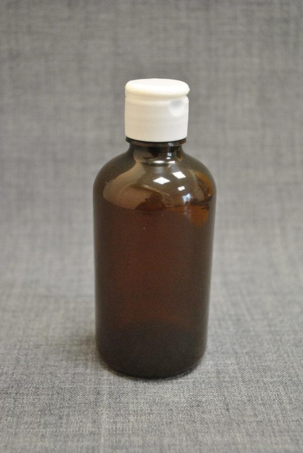 flakon-100-ml-s-kryshkoy-flip-top-korichneviy