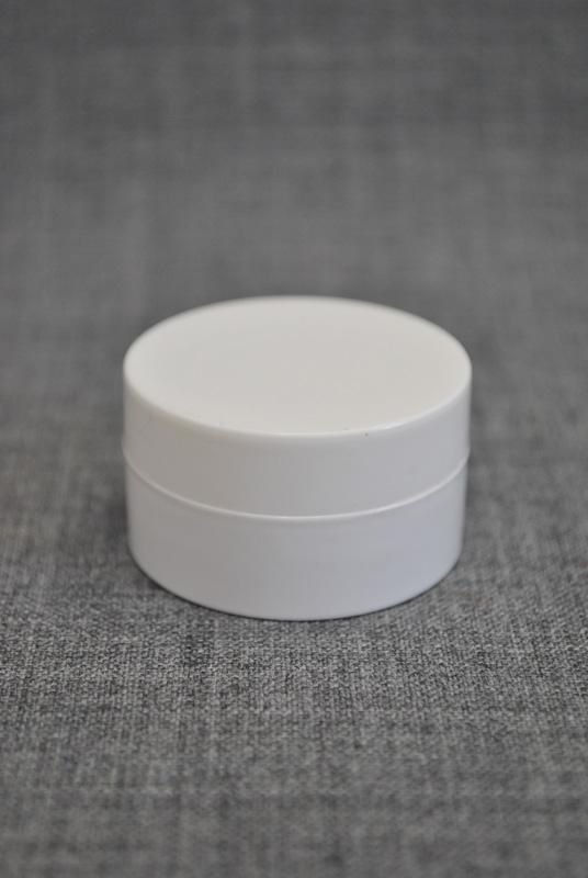 баночка 10 мл для косметики белого цвета
