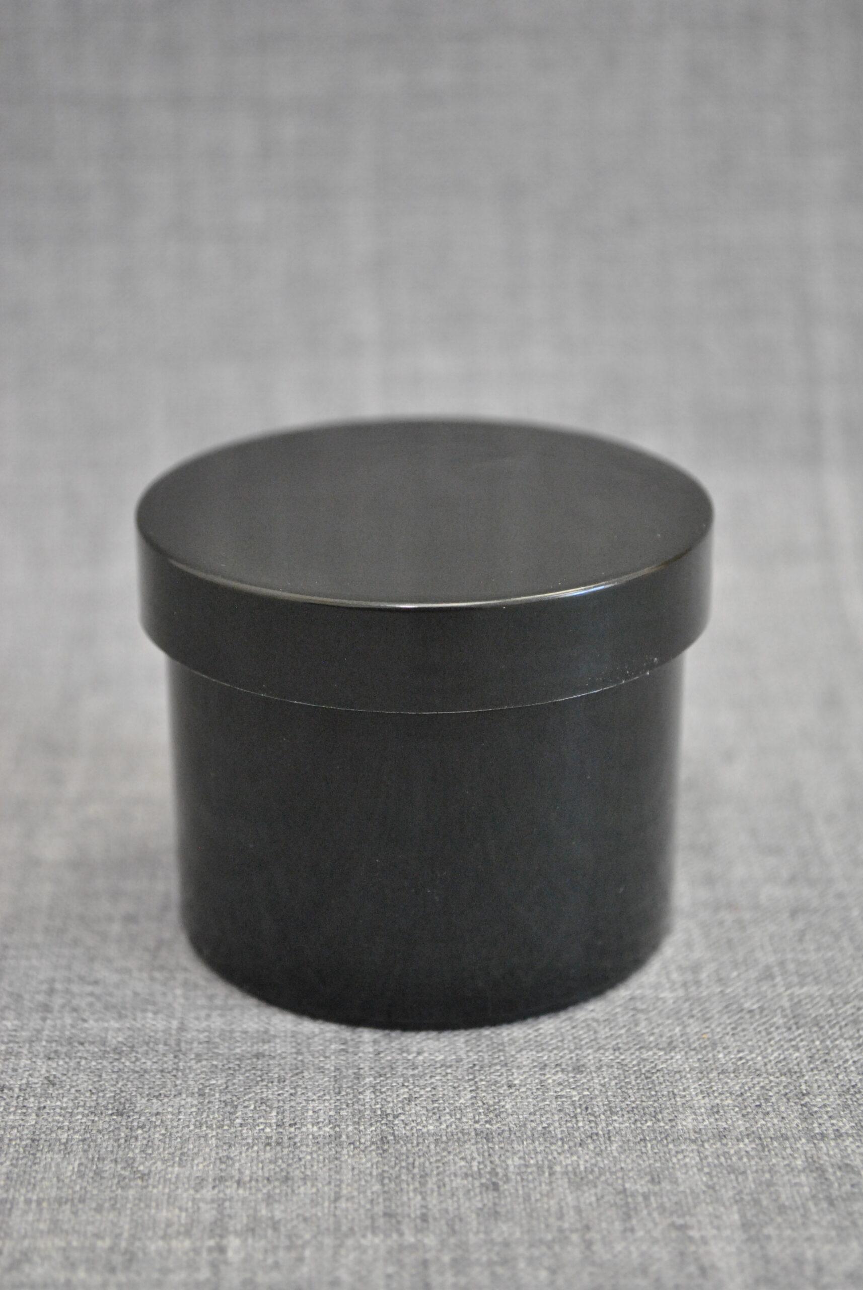 баночка 100 мл для косметики черного цвета