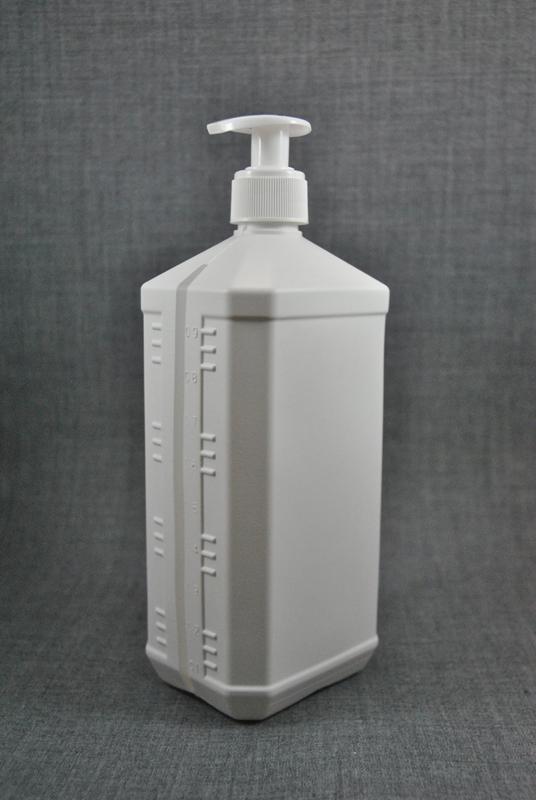 plastikovaya-kanistra-1-litr-belogo-tsveta-s-kryshkoy-s-dozatorom-dlya-antiseptika-foto-2