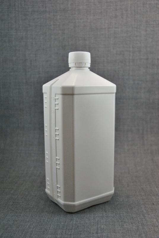 plastikovaya-kanistra-1-litr-belogo-tsveta-s-kryshkoy-s-kontrolem-pervogo-vskrytiya-foto-2