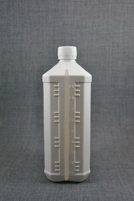 plastikovaya-kanistra-1-litr-belogo-tsveta-s-kryshkoy-s-kontrolem-pervogo-vskrytiya-foto-3